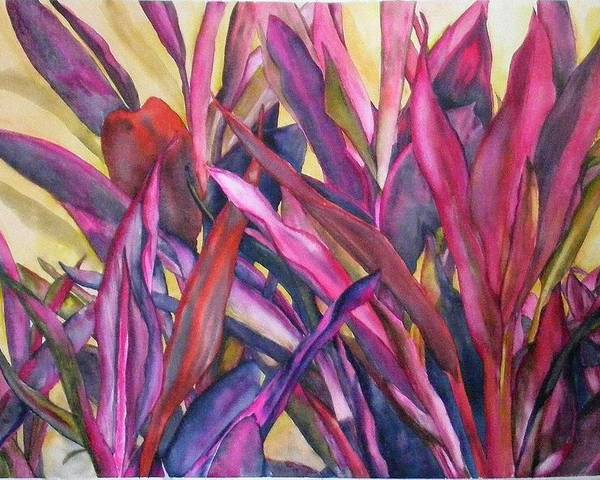 Floral Poster featuring the painting Cancun Fires by Diane Ziemski