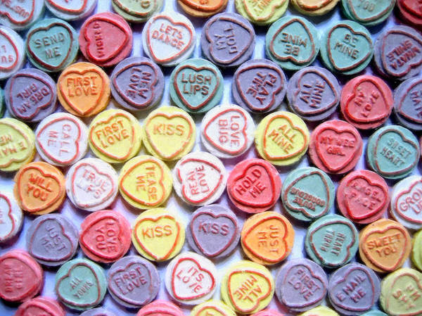 Love Hearts Poster featuring the painting Candy Love by Michael Tompsett