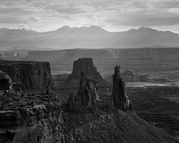 Mesa Poster featuring the photograph Canyonlands Np IIi Bw by David Gordon