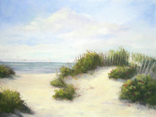 Beach Poster featuring the painting Cape Afternoon by Vikki Bouffard