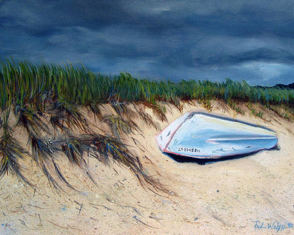 Boat Poster featuring the painting Cape Cod Boat by Paul Walsh