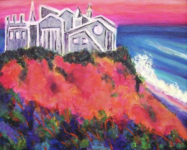 Castle Poster featuring the painting Cape Cod Castle by Suzanne Marie Leclair