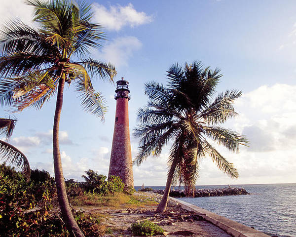Historic Poster featuring the photograph Cape Florida Light by Buddy Mays