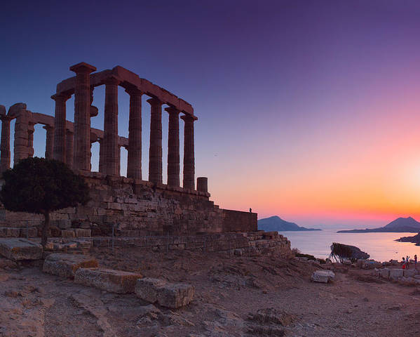 Agios Isidoros Poster featuring the photograph Cape Sounion by Emmanuel Panagiotakis