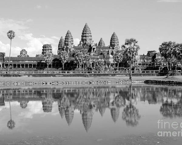 Angkor Wat Poster featuring the photograph Capital Temple by Nelson Smith
