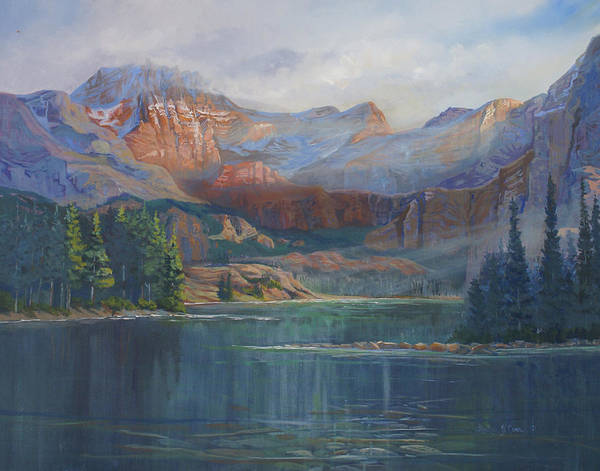 Capital Peak Poster featuring the painting Capitol Peak Rocky Mountains by Heather Coen