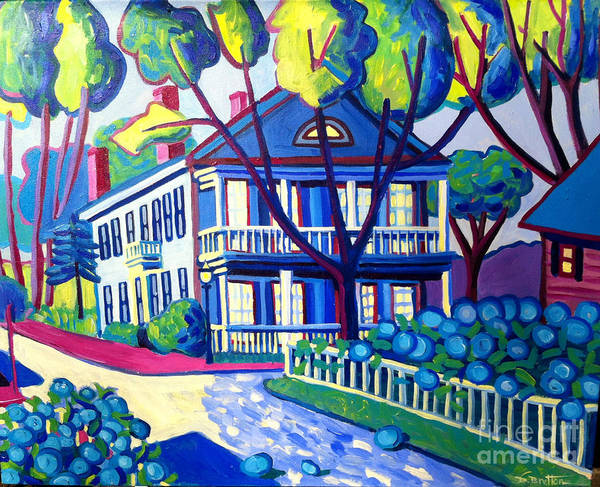Captain Morse House Poster featuring the painting Captain Morse House Edgartown by Debra Bretton Robinson