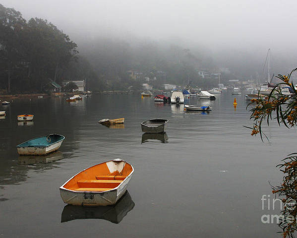 Mist Poster featuring the photograph Careel Bay Mist by Sheila Smart Fine Art Photography