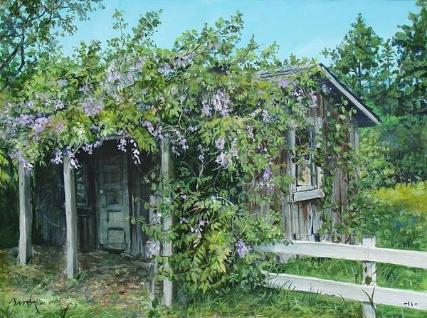 Landscape Poster featuring the painting Carl's Shed by William Brody