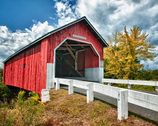 Covered Bridge Poster featuring the photograph Carlton Bridge by Fred LeBlanc