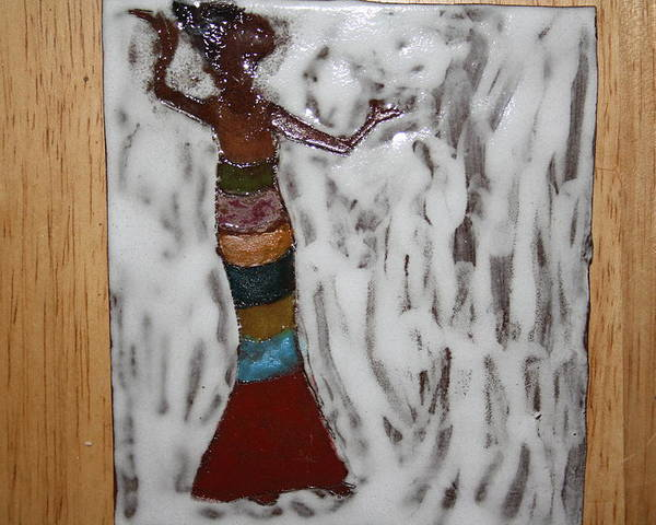 Jesus Poster featuring the ceramic art Carmen - Tile by Gloria Ssali