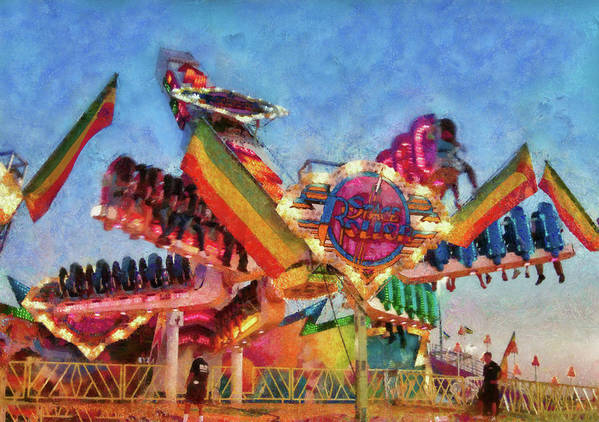Suburbanscenes Poster featuring the photograph Carnival - A Most Colorful Ride by Mike Savad