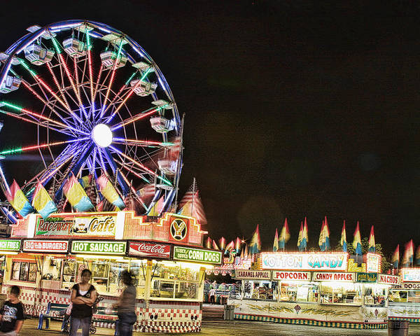 Carnival Images Poster featuring the photograph carnival Fun and Food by James BO Insogna