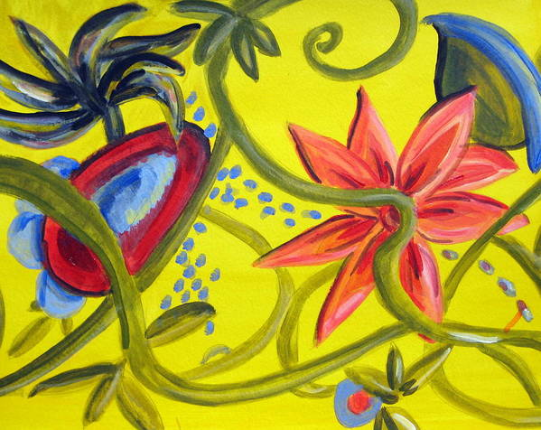 Floral Poster featuring the painting Carnival Two by Rebecca Merola
