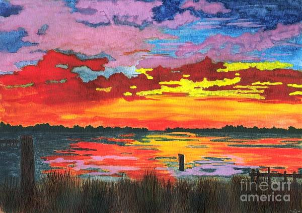 Original Painting Poster featuring the painting Carolina Sunset by Patricia Griffin Brett