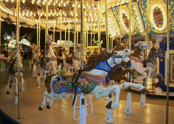 Carousel Horse Poster featuring the photograph Carousel Horse 3 by Anita Burgermeister