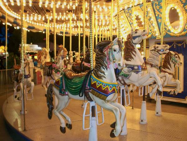 Carousel Horse Poster featuring the photograph Carousel Horse 4 by Anita Burgermeister