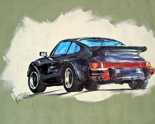 Auto Poster featuring the painting Carrera by Paul Miller