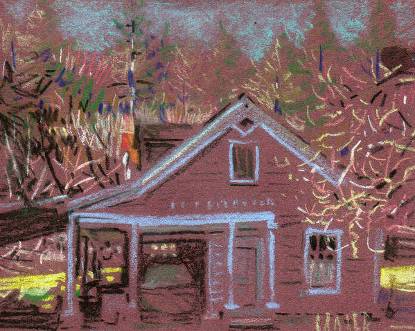 Carriage House Poster featuring the drawing Carriage House by Donald Maier