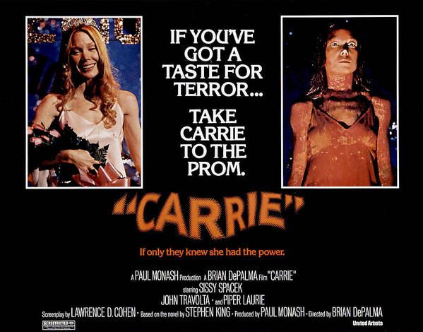 1970s Poster Art Poster featuring the photograph Carrie, Sissy Spacek, 1976 by Everett