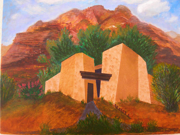 Landscape Poster featuring the painting Casa De Pax Y Bueno by Jack Hampton