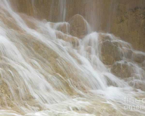 Nature Poster featuring the photograph Cascade By The Limestone Pools In Huanglong by Julia Hiebaum