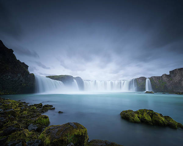 Iceland Poster featuring the photograph Cascade Of The Gods by Dominique Dubied