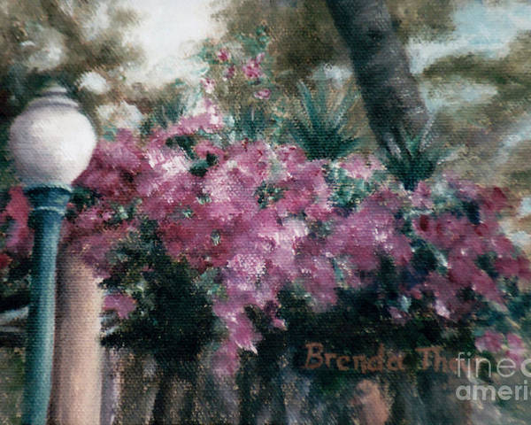Flowers Poster featuring the painting Cascading Flowers by Brenda Thour