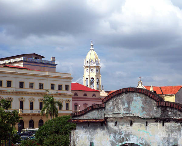Clouds Poster featuring the photograph Casco Viejo by John Rizzuto