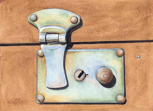 Case Poster featuring the painting Case Latch by Ken Powers