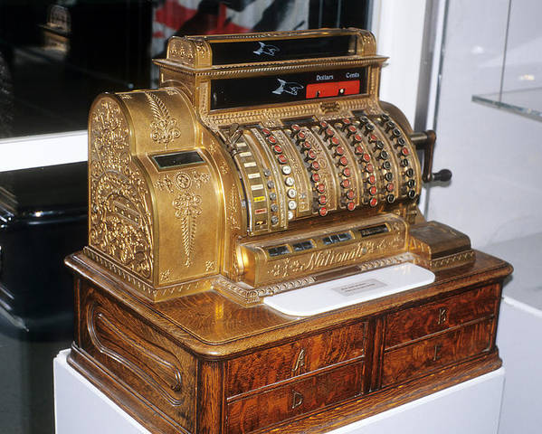 Old Fashioned Poster featuring the photograph Cash Register by Carl Purcell