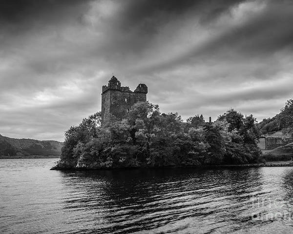 Scotland Castle Loch Ness Poster featuring the photograph Castle Grey by Ed The Frog Photography