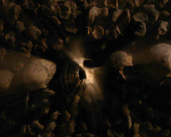 Poster featuring the photograph Catacombs - Paria France 3 by Jennifer McDuffie