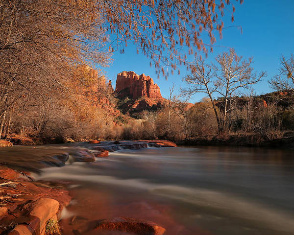 Cathedral Poster featuring the photograph Cathedral Rock Sedona Arizona by Larry Marshall