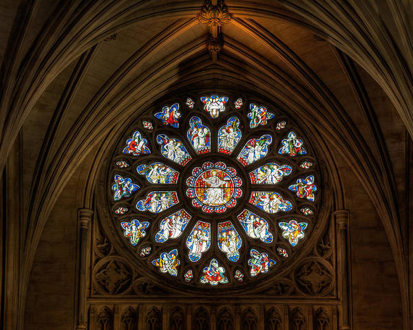 Cathedral Poster featuring the photograph Cathedral Window by Adrian Evans