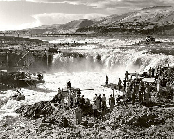 Poster featuring the photograph Celilo Falls by Unknown