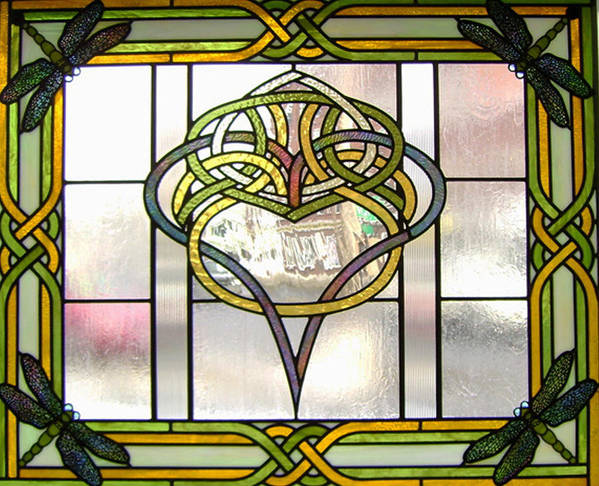 Celtic Poster featuring the glass art Celtic Heart by Jane Croteau