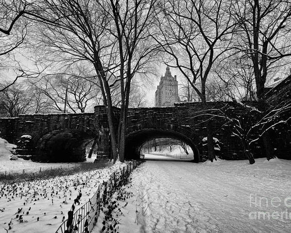 Cold Poster featuring the photograph Central Park West And The San Remo Building by John Farnan