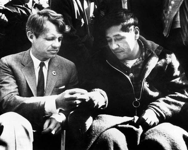 History Poster featuring the photograph Cesar Chavez Ends His Hunger Strike by Everett
