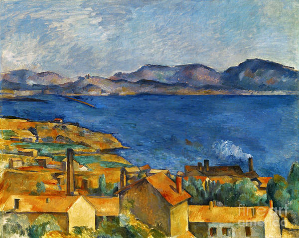 1890 Poster featuring the photograph Cezanne Marseilles 1886-90 by Granger