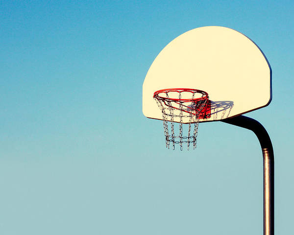 Basketball Poster featuring the photograph Chain Net by Todd Klassy