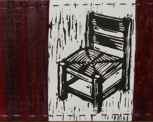 Chair Poster featuring the mixed media Chair I by Peter Allan