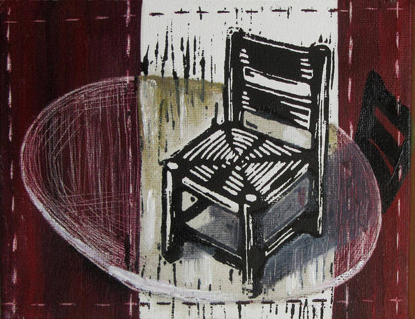Chair Poster featuring the mixed media Chair Vi by Peter Allan