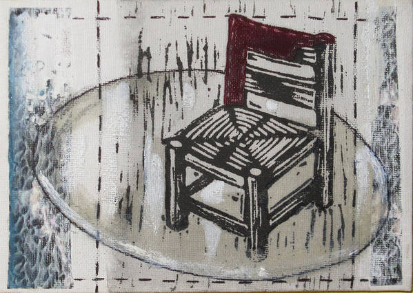 Chair Poster featuring the mixed media Chair Vii by Peter Allan