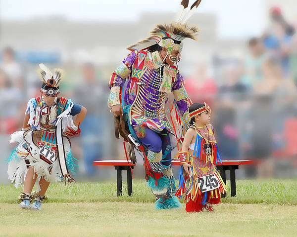 Pow Wow Poster featuring the photograph Championship Pow Wow - Grand Prairie Texas by Dyle Warren