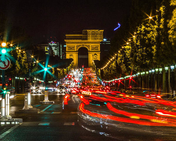 Paris Poster featuring the photograph Champs Elysees by Jeff West
