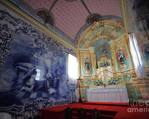 Fenais Da Ajuda Poster featuring the photograph Chapel In Azores Islands by Gaspar Avila
