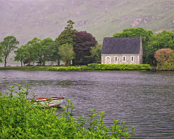Church Poster featuring the photograph Chapel In The Mist - Gougane Barra - County Cork - Ireland by Tony Crehan