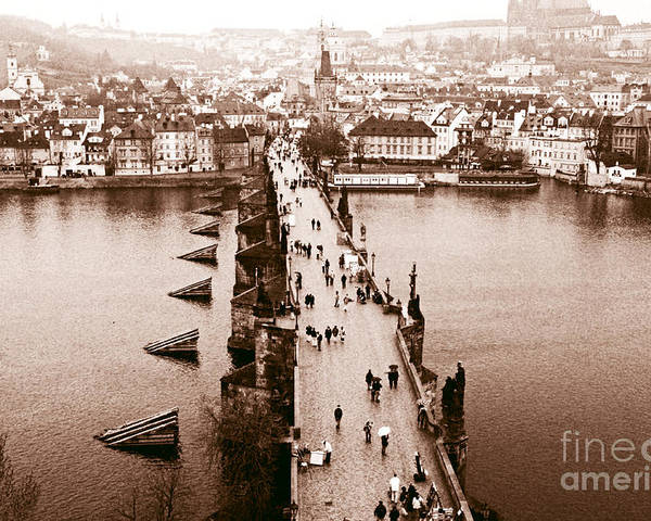 Charles Bridge Poster featuring the photograph Charles Bridge II by John Rizzuto