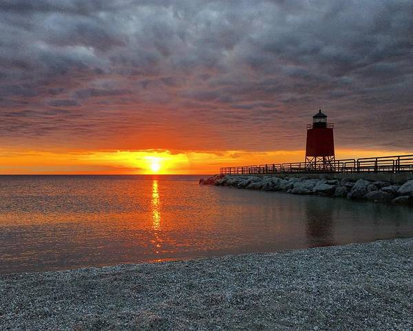 Charlevoix Poster featuring the photograph Charlevoix Sunset by Megan Noble